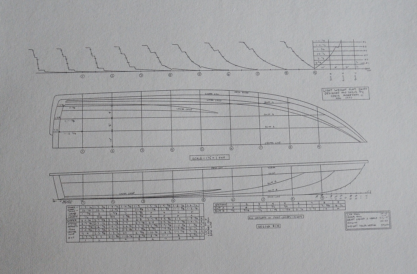 Flats skiff hull lines and 3-D drawings by Chris Morejohn ...